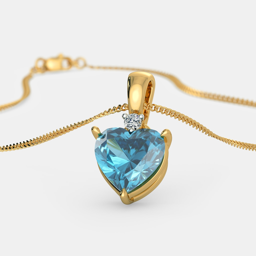 Beautiful 22 carat gold chains with matching pendant designs latest - The Mirella Pendant