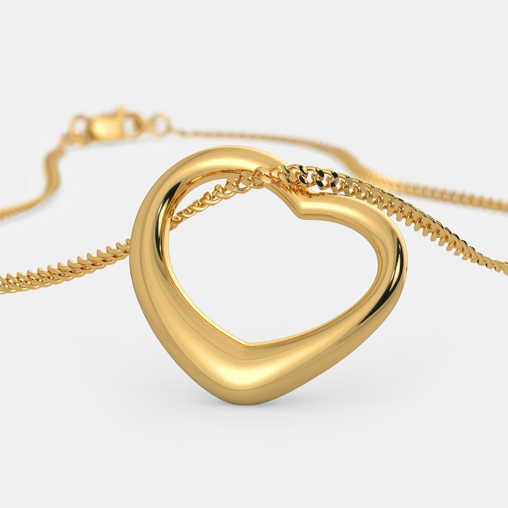 The gold kiss heart pendant bluestone the gold kiss heart pendant aloadofball Gallery