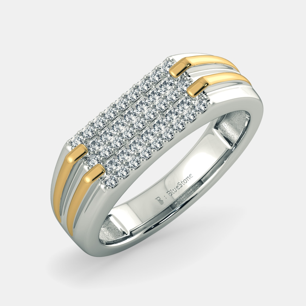 Buy 50+ Men\'s Diamond Ring Designs Online in India 2018 | BlueStone