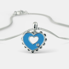 The Elsa Heart Pendant for Kids