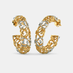 The B Iconic Jaali Oval Hoop Earrings
