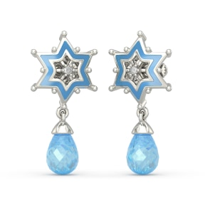 The Elsa Star Drop Earrings For Kids