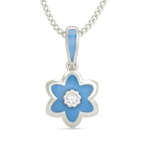 The Elsa Floral Pendant for Kids