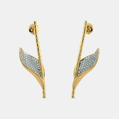 The Cilesi Leaf Drop Earrings