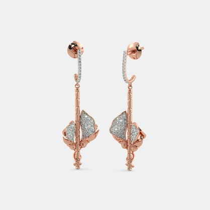 The Anuka Roseate Drop Earrings