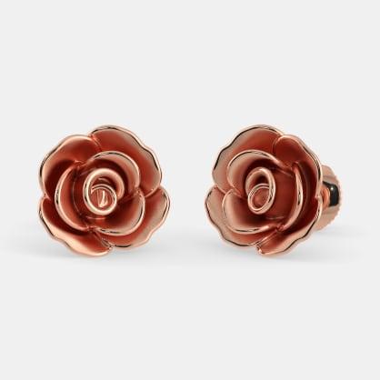 The Blooming Rose Stud Earrings