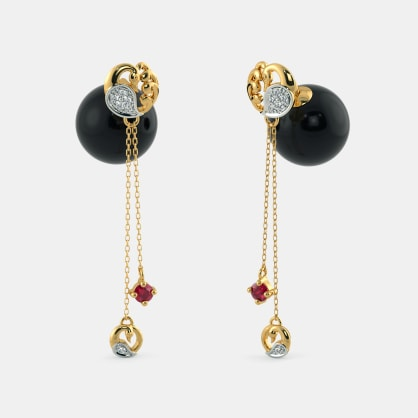 The Peacock Onyx Drop Earrings