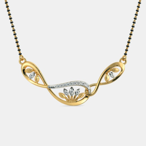Diamond Mangalsutra In Yellow Gold (3.08 Gram) With Diamonds (0.145 Ct)