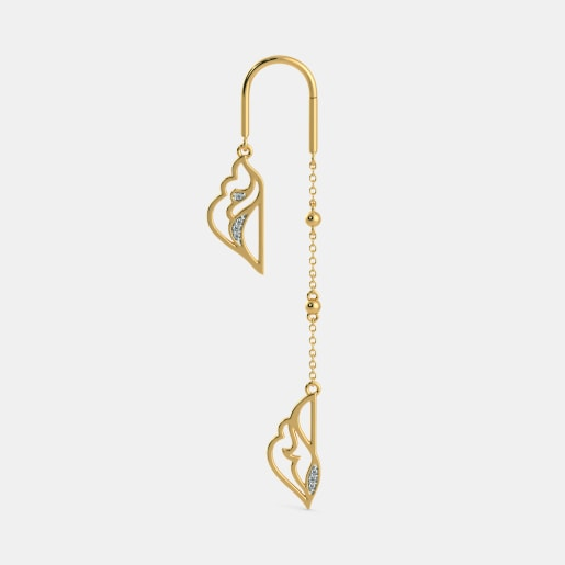 Diamond Earring In Yellow Gold (6.1 Gram) With Diamonds (0.054 Ct)
