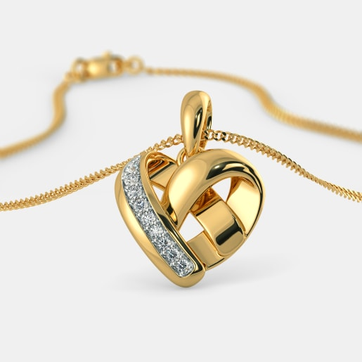Hearts pendants buy 100 hearts pendant designs online in india the wrapped in love pendant aloadofball Images
