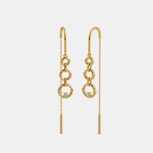 The Sleek Ringlet Sui Dhaga Earrings