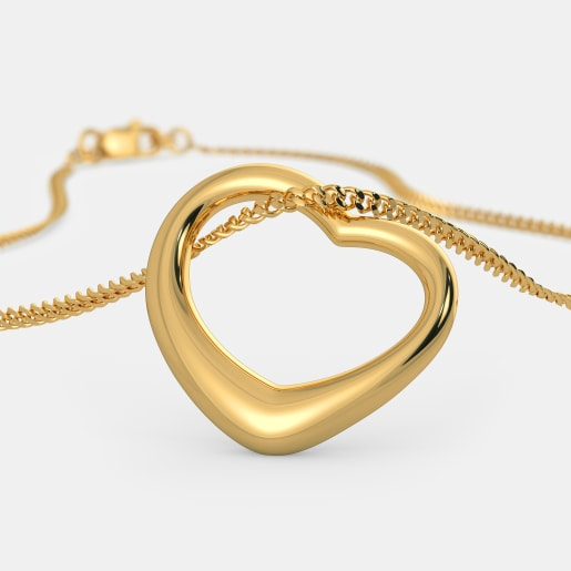 The Gold Kiss Heart Pendant