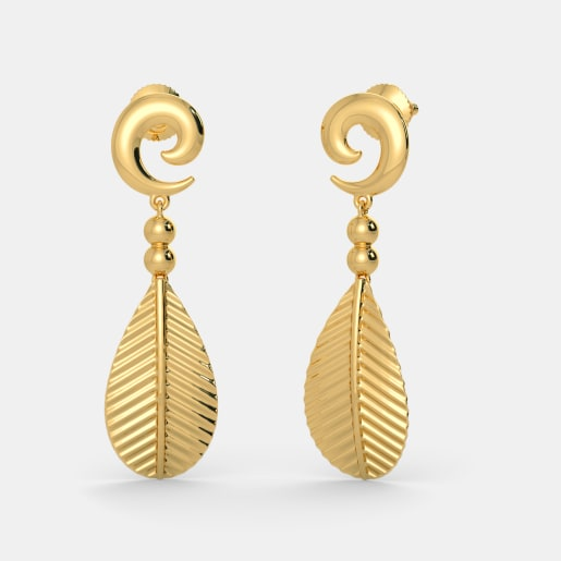 buy 1550 latest yellow gold earring designs online in