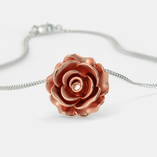 Plain gold pendants buy 100 plain gold pendant designs online in the blooming rose pendant aloadofball Choice Image