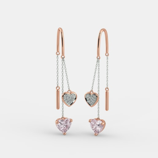 The Cira Rose Quartz Earrings