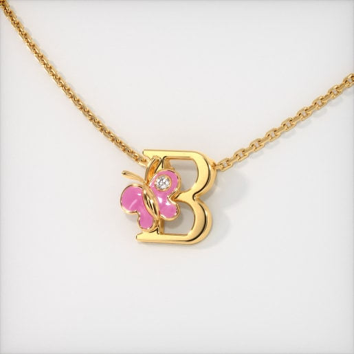 The B for Butterfly Necklace for Kids