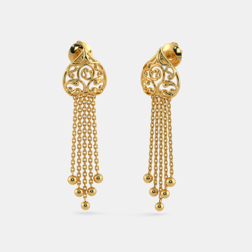 Plain Gold Earrings Buy 200 Plain Gold Earring Designs line in