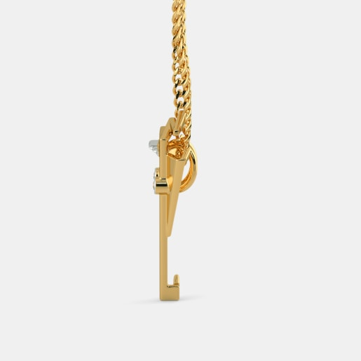 Diamond Pendant In Yellow Gold (3.06 Gram) With Diamonds (0.020 Ct)