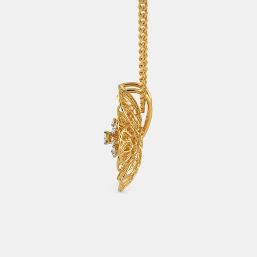 Diamond Pendant In Yellow Gold (3.04 Gram)