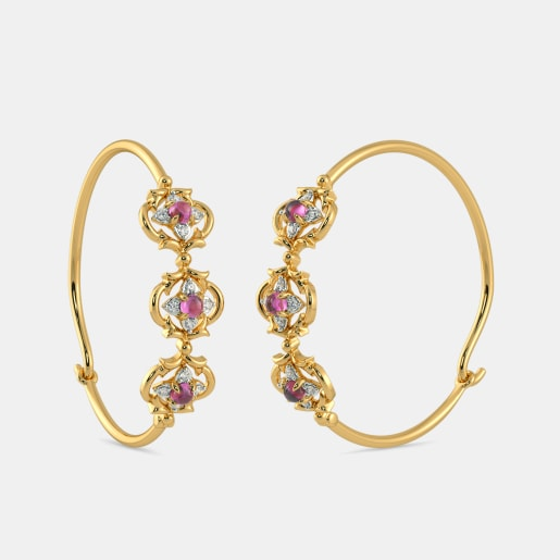 The Gorgeos Floret Hoop Earrings