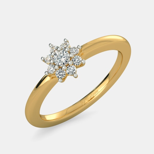 flower original diamond unique beauty jewellery ring women by for engagement large set blooming rings jewelry
