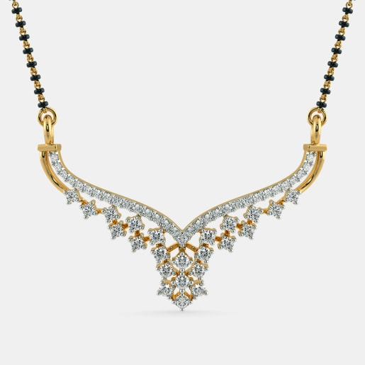 Diamond Mangalsutra In Yellow Gold (2.03 Gram) With Diamonds (0.510 Ct)