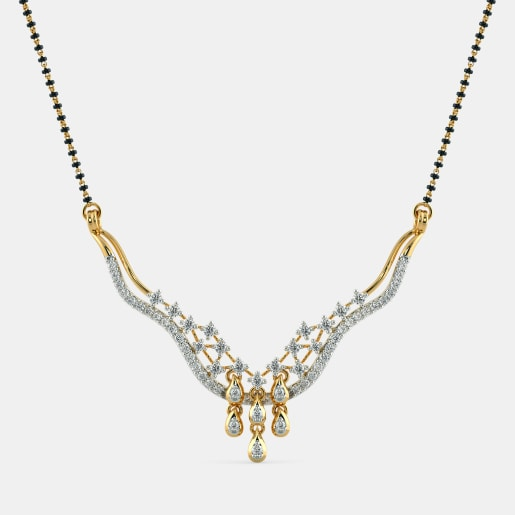 Diamond Mangalsutra In Yellow Gold (3.75 Gram) With Diamonds (0.710 Ct)