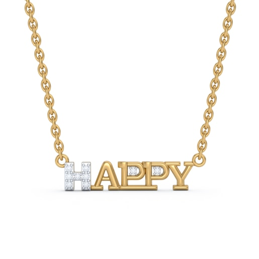 The Happy Script Necklace