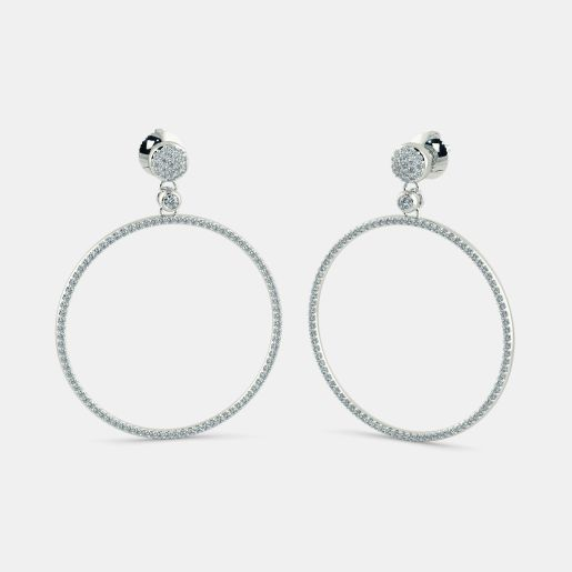 The Meridian Halo Drop Earrings