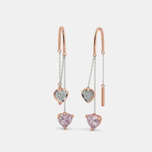The Cira Rose Quartz Earrings
