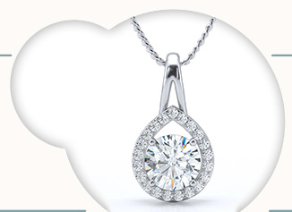 Online jewellery shopping store india buy gold and diamond the refined embrace pendant aloadofball Image collections